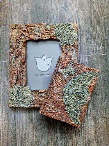 art dielo na objednávku zdobený diár a rámik