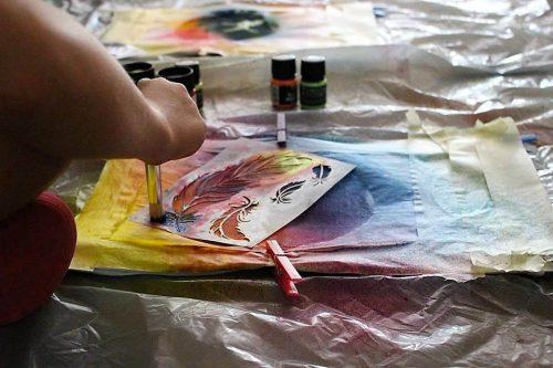 ukážka tvorby v detskom letnom tábore Fantázia