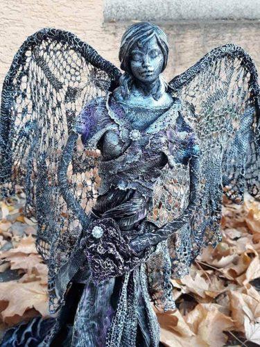 socha anjela vytvorená technikou Paverpol