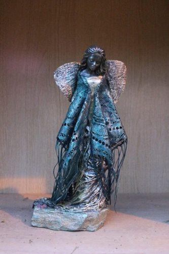 socha anjela vytvorená na kurze Paverpol